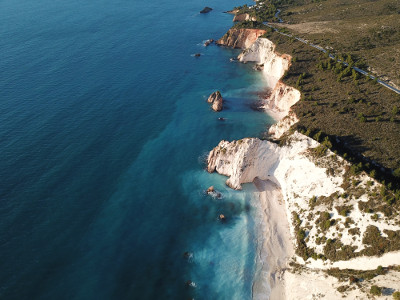 white rocks  aerial view